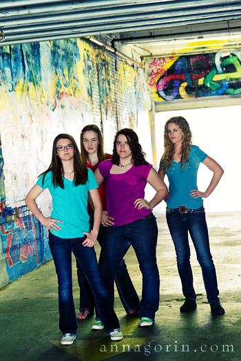 Sweet Sixteen | urban portraits Senior Portraits Senior Photos portraits photography outdoor portraits group portraits freak alley downtown boise boise photography boise  | Anna Gorin Design & Photography, Boise, Idaho
