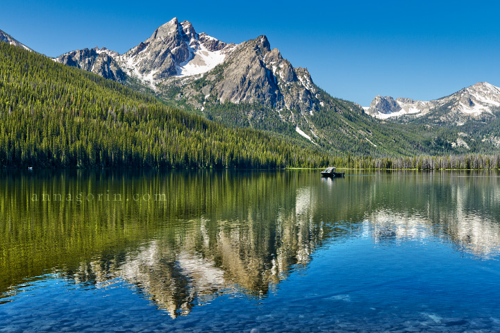 Stanley Lake, Idaho | water travel stanley lake stanley scenic scenery sawtooth wilderness sawtooth mountains photography mountains mount mcgown landscape lake idaho HDR  | Anna Gorin Design & Photography, Boise, Idaho