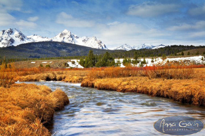 Early Spring in Stanley | stanley spring snow sawtooths sawtooth mountains photography nature mountains landscapes idaho HDR galena summit galena pass  | Anna Gorin Design & Photography, Boise, Idaho