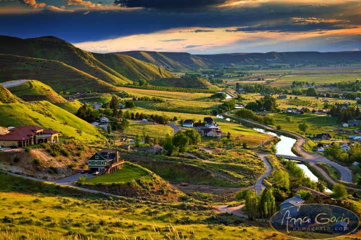 Storms over Emmett, Idaho | sunset storm landscapes idaho hills golden hour freezeout hill emmett eagle clouds  | Anna Gorin Design & Photography, Boise, Idaho