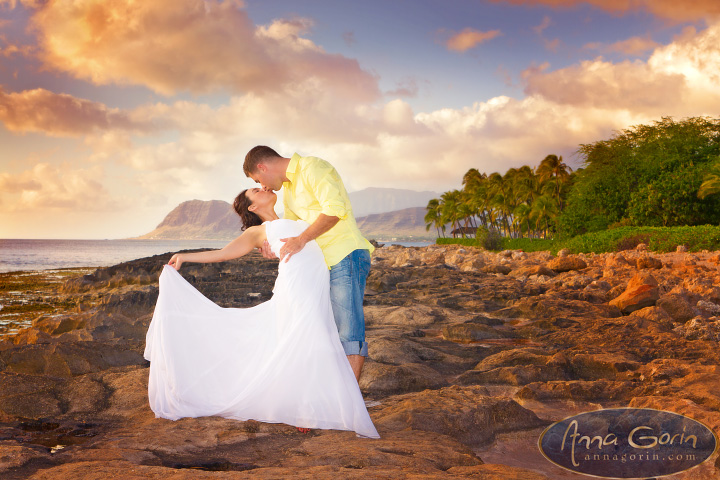 Weddings: Karissa & Mark (Trash the Dress) | weddings travel trash the dress romance portraits out of town weddings oahu love koolina honolulu hawaii events destination weddings couples  | Anna Gorin Design & Photography, Boise, Idaho