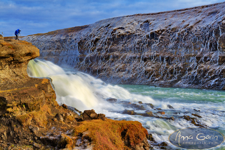 Iceland: Gullfoss | Þingvellir national park Þingvellir Þingvallavatn waterfall travel photography landscapes iceland gullfoss golden falls golden circle europe autumn  | Anna Gorin Design & Photography, Boise, Idaho