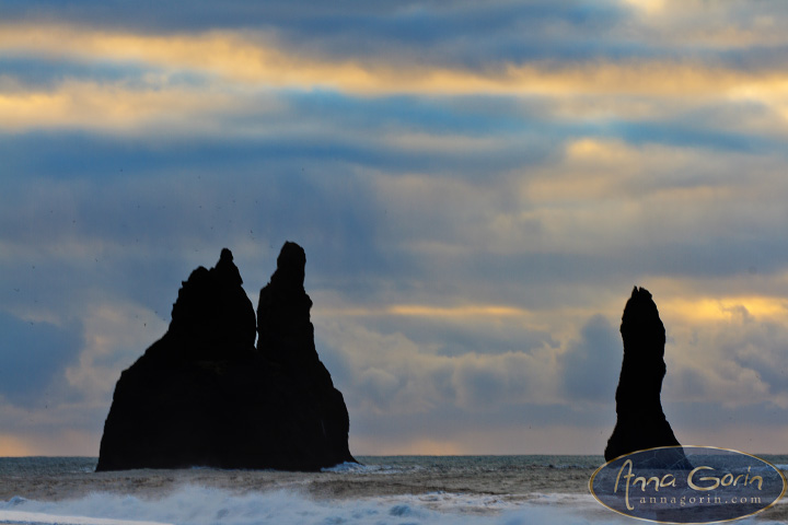 Iceland: Reynisdrangar | travel sunrise south sea stack sea reynisdrangar ocean morning landscapes iceland column basalt  | Anna Gorin Design & Photography, Boise, Idaho