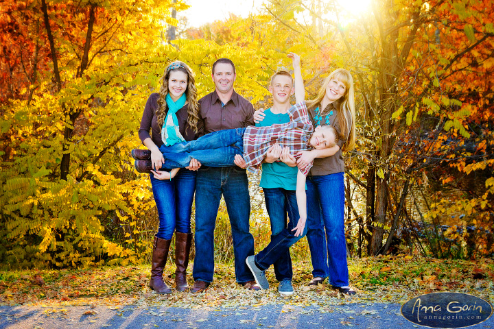 The Mickelson family | veterans memorial park portrait photoshoots photography outdoor portraits kids families fall foliage fall color fall children photography children boise family photos boise family photography autumn  | Anna Gorin Design & Photography, Boise, Idaho