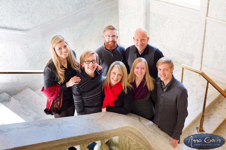 The Renshaw family | winter portrait photoshoots photography indoor portraits idaho capitol building Family Photos Family Photographer Boise Family Photographer families Boise Family Photos Boise Family Photography Boise Family Photographer  | Anna Gorin Design & Photography, Boise, Idaho