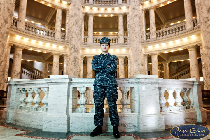 Portraits: Sierra | winter portraits portrait photoshoots photography military portrait indoor portraits idaho capitol building boise portraits boise portrait photography boise portrait photographer boise photographers boise photographer  | Anna Gorin Design & Photography, Boise, Idaho
