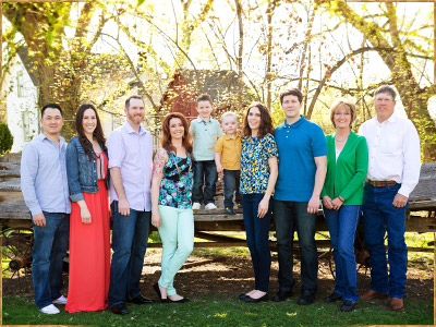 Family photography at the Schick-Ostolasa farmstead in Hidden Springs, Idaho