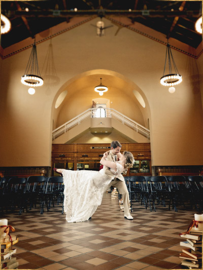 Wedding photos at Boise Train Depot, Idaho