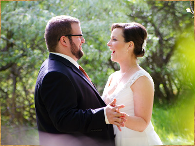 Outdoor wedding at Kathryn Albertson Park in Boise, Idaho
