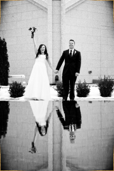 Wedding photography at the Boise Idaho LDS Temple